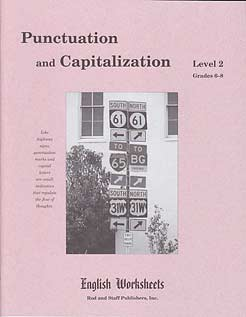 Grades 6-8 (Level 2) Punctuation and Capitalization English Worksheets