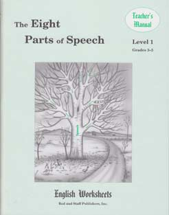 Grades 3-5 (Level 1) The Eight Parts of Speech English Worksheets - Teacher