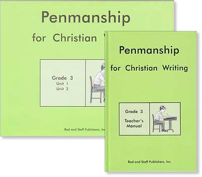 "Grade 3 Penmanship ""Penmanship for Christian Writing"" Set"