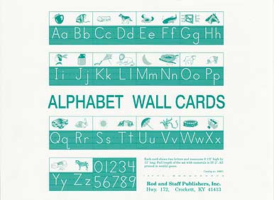 Grade 1 Manuscript Alphabet Wall Cards