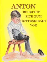 German - Anton bereitet sich zum Gottesdienst vor [LJB - Anthony Gets Ready for Church]