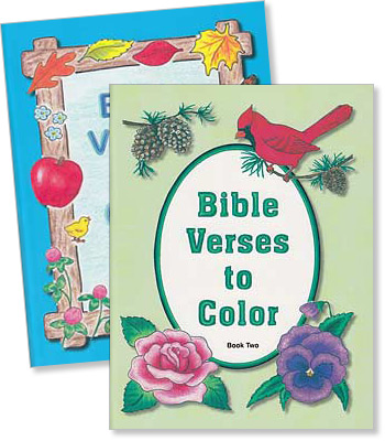 Set Of 2 Bible Verses To Color Mottoes Coloring Books