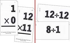 Small Multiplication and Division Flash Cards