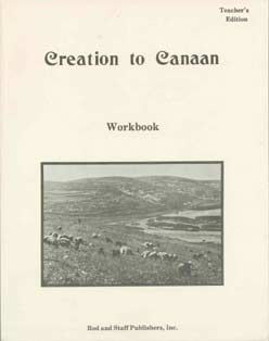 "Bible History ""Creation to Canaan"" Workbook Teacher"