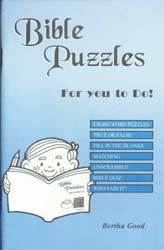 Bible Puzzles for You to Do!