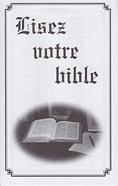 French Tract [C] - Lisez votre Bible [Read Your Bible]