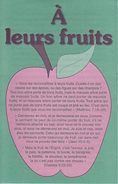 French Tract [B] - À leurs fruits [By Their Fruits]