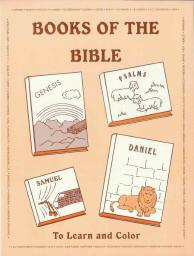 "Books of the Bible - ""To Learn and Color"" Coloring Book"