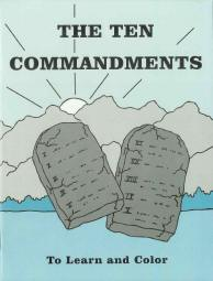 "The Ten Commandments - ""To Learn and Color"" Coloring Book"