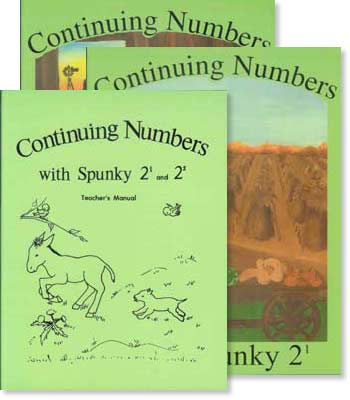 "Grade 2 Schoolaid Math ""Continuing Numbers with Spunky"" Set"