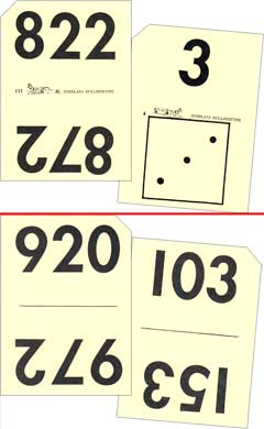 Grade 1 Schoolaid Math - Numbers Flash Cards