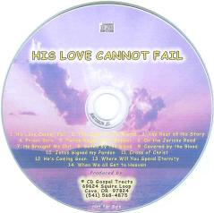 His Love Cannot Fail - Audio CD