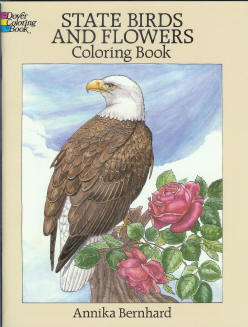 State Birds and Flowers - Coloring Book