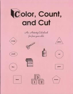 Color, Count, and Cut - Preschool Activity Workbook