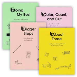 Set of 4 Preschool Activity Workbooks