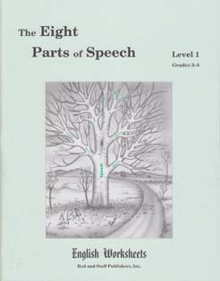Grades 3-5 (Level 1) The Eight Parts of Speech English Worksheets