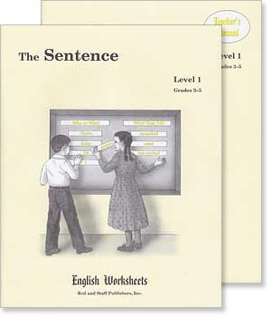 Grades 3-5 (Level 1) The Sentence English Worksheets Set