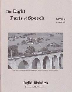 Grades 6-8 (Level 2) The Eight Parts of Speech English Worksheets