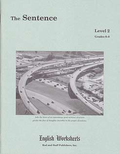 Grades 6-8 (Level 2) The Sentence English Worksheets