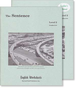 Grades 6-8 (Level 2) The Sentence English Worksheets Set