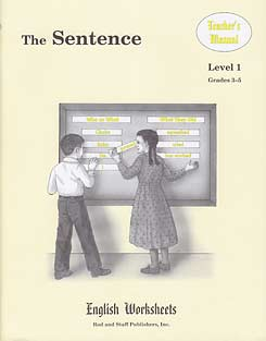 Grades 3-5 (Level 1) The Sentence English Worksheets - Teacher