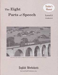 Grades 6-8 (Level 2) The Eight Parts of Speech English Worksheets - Teacher