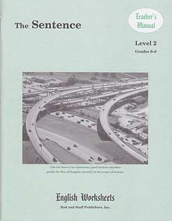 Grades 6-8 (Level 2) The Sentence English Worksheets - Teacher