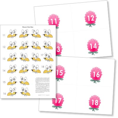 Grade 2 Math Blossom and Bee Posters - SHIPPED IN A TUBE