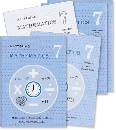 "Grade 7 Math ""Mastering Mathematics"" Set"