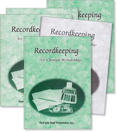 "Grade 9 or 10 Math ""Recordkeeping for Christian Stewardship"" Set"