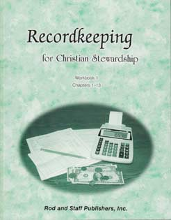 Recordkeeping for Christian Stewardship - Workbook 1