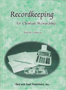Recordkeeping for Christian Stewardship - Teacher's Manual