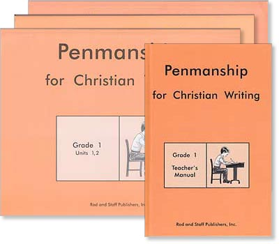 "Grade 1 Penmanship ""Penmanship for Christian Writing"" Set"