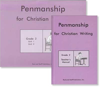 "Grade 2 Penmanship ""Penmanship for Christian Writing"" Set"