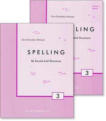 "Grade 3 Spelling ""Spelling by Sound and Structure"" Set"