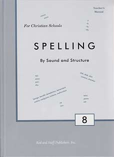 Grade 8 Spelling Teacher's Manual