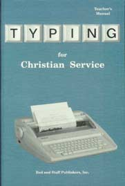 DISCOUNT - Typing for Christian Service - Teacher's Manual