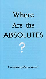 Tract - Where Are the Absolutes? [Pack of 50]