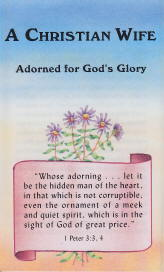 Tract [C] - A Christian Wife—Adorned for God's Glory
