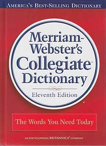 Merriam-Webster's Collegiate Dictionary (hardcover)