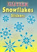 Snowflakes - Glitter Stickers