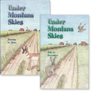 "Set of 2 ""Under Montana Skies"" books"