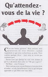 French Tract [B] - Qu'attendez-vous de la vie ? [What Do You Want From Life?]