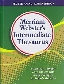 Grades 5-8 Merriam-Webster's Intermediate Thesaurus (hardcover)