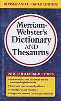 Merriam-Webster's Dictionary and Thesaurus - paperback