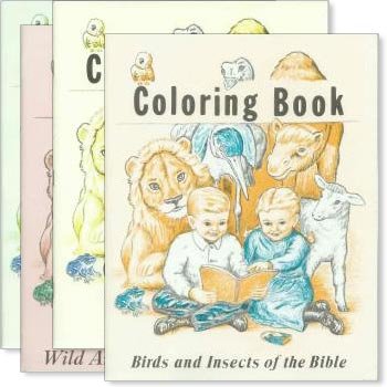 Set of 4 Bible Coloring Books