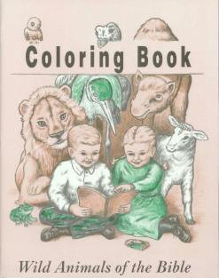 Wild Animals of the Bible - Bible Coloring Book