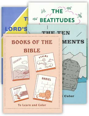 "Set of 4 ""To Learn and Color"" Coloring Books"