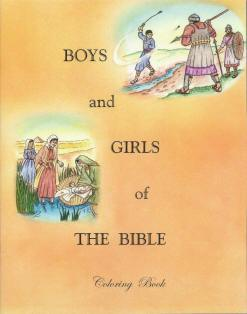 Boys and Girls of the Bible Coloring Book