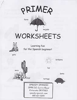 Speedy Spanish Primer Worksheets